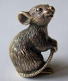 Tiny Solid Bronze Mouse by N.Fedosov. | eBay
