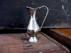 French Jug - Silver Jug - French Vase - Silver Plated Vase - Small Flower Vase - Silver Posy Vase - Silver Bud Vase - Silver Jug Vase by MissieMooVintageRoom on Etsy