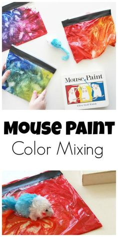 Mouse Paint Color Mixing- perfect for colors theme