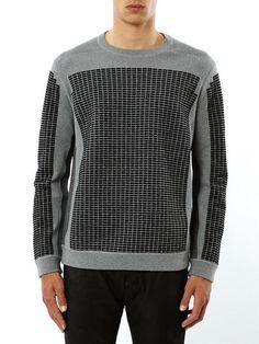 e9a59fcb993 Alexander Wang Metelasse Cotton Sweatshirt in Black for Men - Lyst Mens  Fashion Sweaters