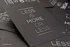 21 Examples of Minimal Business Card Design | CoalesceIdeas