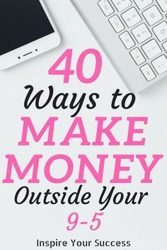 I can't believe how many ways there are to make money online. These 40 ways to make money outside my job have helped me so much. I can't believe I found tons of way to make money from my laptop! Make Money Blogging, Money Tips, Make Money From Home, Way To Make Money, Saving Money, Money Plan, Money Hacks, Earn Money Online, Online Jobs