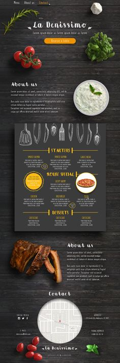 Website design for restaurant (Дизайн сайта для ресторана)