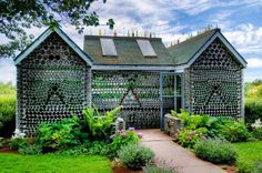 Bottle House, I know of one in NM but this one is very cool also