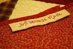 Cute idea for a quilt label