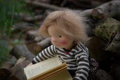 Asta, a cloth doll by Atelier Björkåsa