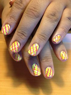 Crossed Stripes Nail Art - http://yournailart.com/crossed-stripes-nail-art/ - #nails #nail_art #nails_design #nail_ ideas #nail_polish #ideas #beauty #cute #love