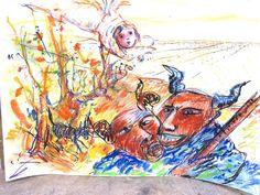 Maqueta para painel cerâmico de Alberto Péssimo Moose Art, Painting, Animals, Etchings, Dashboards, Dibujo, Animales, Animaux, Painting Art