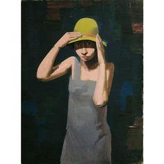 Franz Lerch, Mädchen mit Hut, 1929, Öl auf Leinwand, 80 x 60 cm, Belvedere, Wien, Inv.-Nr. 6075
