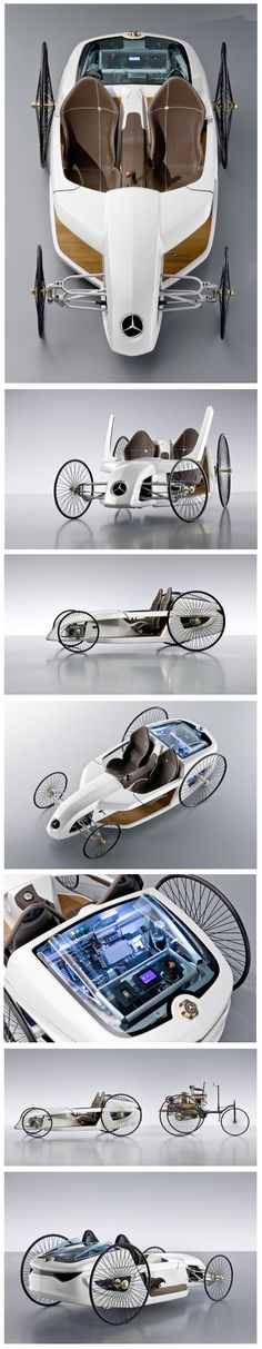 Mercedes-​Benz F-​CELL Roadster with Hybrid Drive :: Formula One meets the original Benz :: H. G. Wells, I'd like to introduce you to Marty McFly.