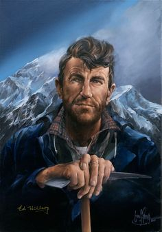 Sir Edmund Hillary New Zealand Mountaineer Who Conquered Mt Everest. Portrait Art, Portraits, Long White Cloud, History Articles, New Zealand Art, Nz Art, Kiwiana, Bungee Jumping, Reasons To Live