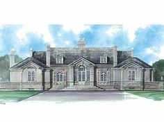 Home Plans HOMEPW00072 - 3,820 Square Feet, 3 Bedroom 3 Bathroom Neoclassical Home with 3 Garage Bays