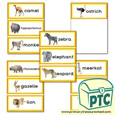 African Animal themed resources for the classroom Letter Activities, Teaching Activities, Toddler Activities, Teaching Resources, Teaching Ideas, African Animals, African Safari, Classroom Banner, Display Banners