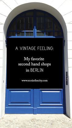 Eco in the City: A vintage feeling: My favorite second hand shops in Berlin