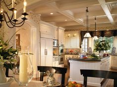 Designer Peter Salerno mixes cottage and country styles to create a warm, welcoming kitchen for the whole family on HGTV.com.