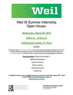 2015 Summer Internship Opportunity