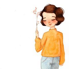 Cute Girl Illustration, Digital Illustration, Cute Couple Cartoon, Girl Cartoon, Miniature Photography, Spring Girl, Cute Backgrounds, Digital Art Girl, Anime Sketch