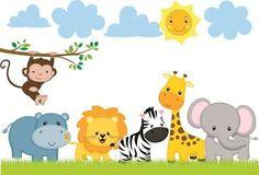 Safari baby old fashioned boy names - Fashion Baby Zoo Animals, Safari Animals, Safari Birthday Party, Jungle Party, Decoration Creche, Old Fashioned Boy Names, Safari Theme, Jungle Theme Cakes, Jungle Safari