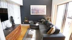 Grey accent wall / 10 Must-See Room for Color Entries: Week Two — Room for Color 2014