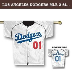 LOS ANGELES DODGERS MLB 2 SIDED JERSEY BANNER (34 X 30) by BSI. Polyester 100%; Imported; 100% heavy duty 150 denier polyester; 2-Sided, graphics on both sides; Licensed MLB Product;.