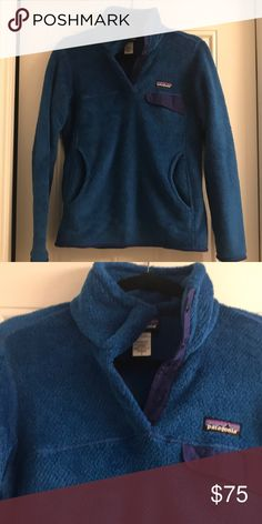 Patagonia Pull Over — LIKE NEW Patagonia Retool Snap-T Women's Pullover Fleece. Royal Blue. Doesn't have tags, but never worn! Patagonia Tops