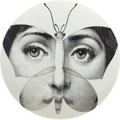 Theme & Variations Plate #96 (Butterfly) - Fornasetti - WikiArt.org