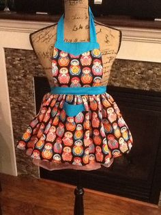 Girls Russian Babushka Dolls  Apron No 202 by MothersApronString