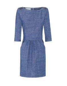 Studded denim dress