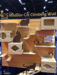 Climbing wall for cats, seen at Global Pet Expo 2012 in Orlando. Love it!