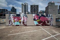 Street Art On A Maersk container at the Auckland Port by Australian Street Artist Askew 1 Artist Paint, Australian Artists, Art Festival, Graffiti Murals, Emerging Artists, Art, Funny Art, Art Pictures, Street Art
