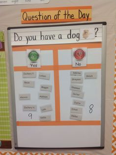 Question of the day for preschool; used for transition to next activity.