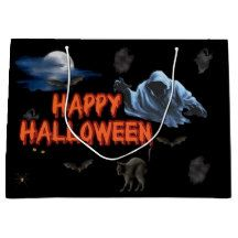 Make one-of-a-kind gifts with these designs! Halloween Gift Bags, Happy Halloween, Large Gift Bags, Movie Posters, Film Poster, Popcorn Posters, Film Posters, Posters