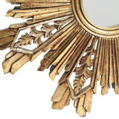 aa0ba9ebcd7 3R Studios Sunburst 23.5 in. H x 23.5 in. W Framed Wall Mirrors in Gold (Set  of 2)