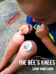 The Bee's Knees: Camp Mom Game. I'm not a fan of the game (teaches kids to spaz out when a bee is near), but maybe use a cut out and teach about meat-bee safety? Like how to just calmly get up and walk away. Bug Games, Camping Games, Camping Theme, Trip Games, Camping Style, Family Camping, Bug Activities, Earth Day Activities, Activity Games