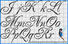 Studio Spot & Patch: Monograms and Alphabets in Cross Stitch Alphabet Design, Monogram Alphabet, Cross Patterns, Stitch Patterns, Cross Stitching, Cross Stitch Embroidery, Diy Broderie, Embroidery Alphabet, Cross Stitch Letters
