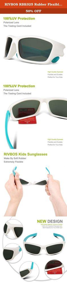 75950e15e0f RIVBOS RBK025 Rubber Flexible Kids Polarized Sunglasses Glasses Age 3-10  (White).