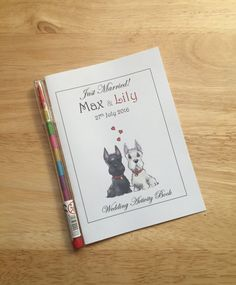 A6 Personalised Childrens Kids Wedding by DesignsbyDaisyandMax