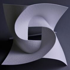 Curved Fold Study by Prof. YM, via Flickr    the whole photostream is rich in origami and laminated concepts