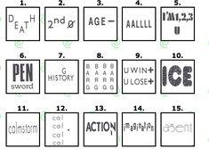 Word Brain Teasers, Printable Brain Teasers, Brain Teasers For Kids, Brain Teaser Puzzles, Rebus Puzzles, Logic Puzzles, Word Puzzles, Fun Brain, Brain Games