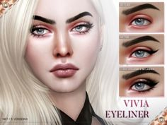 Vivia Eyeliner N67 by Praline Sims for The Sims 4