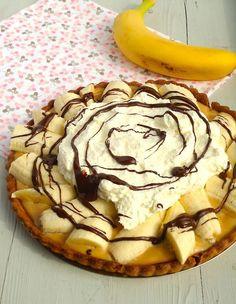 Dit is het lekkerste taart recept ooit, banoffee pie met caramel en chocola.