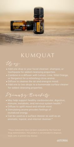 Native to Asia, kumquat is a small, orange-like citrus fruit. Kumquat has a sweet, uplifting scent and cleansing properties. Discover more ways to use this uplifting essential oil. Essential Oils For Migraines, Essential Oils Guide, Essential Oil Uses, Natural Essential Oils, Essential Oil Diffuser Blends, Pure Oils, Doterra Essential Oils, Asia, Orange