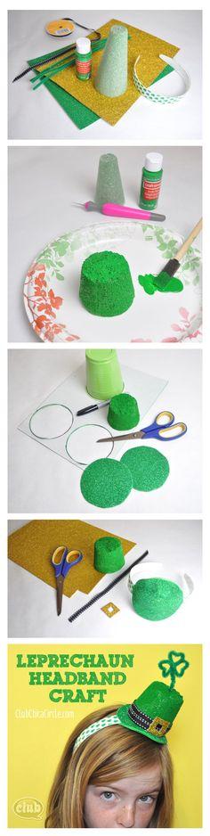 Leprechaun Headband craft idea - great St. Patty's day accessory for girls