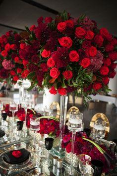 photo: Studio A Images; Gorgeous wedding reception centerpiece idea;