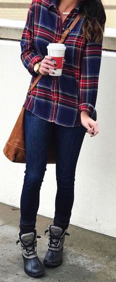 #winter #outfits blue jeans