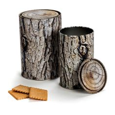 Faux log storage container. Great for hiding cookies in your backyard?