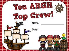 FREE pirate themed certificate to highlight a specific student.  Pirate themed suggestions and tips provided too.   Read this blog post about themes and decorations that can be used in elementary school classrooms.  Themes include dog, jungle, hollywood, pirate, and farm.