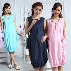 799e4a1cdb4 Maternity Pleated Novelty Dress Cotton Sleeveless Tank Vest Skirt 2013  Summer New Fashion Pregnancy Casual One-Piece Dress