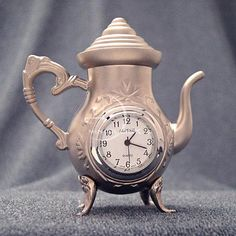 """Coffe pots and clock! (not a """"real"""" antique, but a cool design)"""