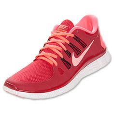 Men's Nike Free 5.0 Running Shoes | FinishLine.com | Gym Red/Atomic Red/Black